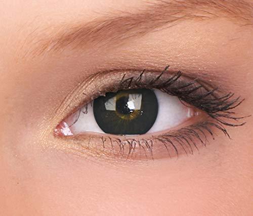 Farbige Kontaktlinse BigEyes Dolly Schwarz 3 Monate Einweg 14 mm stärke 0.00 von ColourVUE