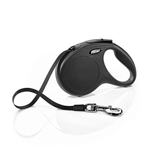 flexi New Classic M Gurt 5 m schwarz für Hunde bis 25 kg