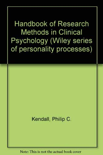 Handbook of research methods in clinical psychology (Wiley series on personality processes)
