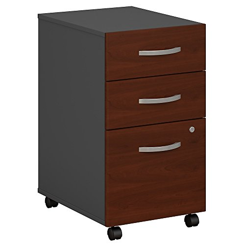 Bush Business Furniture Series C 3 Drawer Mobile File Cabinet, Hansen Cherry