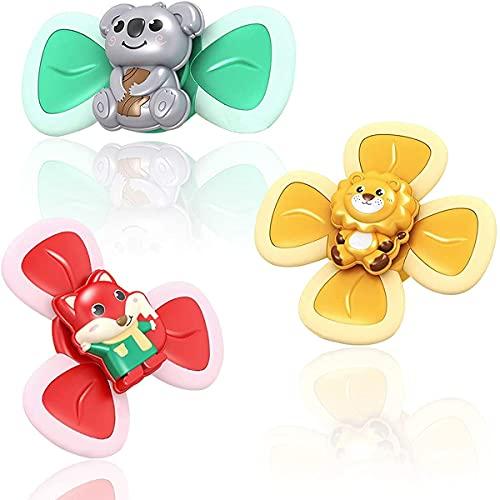 LXFZX Succión Spinning Top Toy, 3pcs Suction Cup Baby Toys, Baby Bath Toys Los Mejores Regalos para el bebé,3 pcs