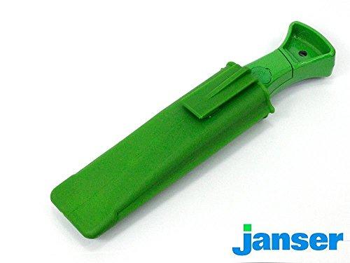 Profi Teppichmesser-Set Janser Green Knife + 20 Haken- & 20 Trapezklingen