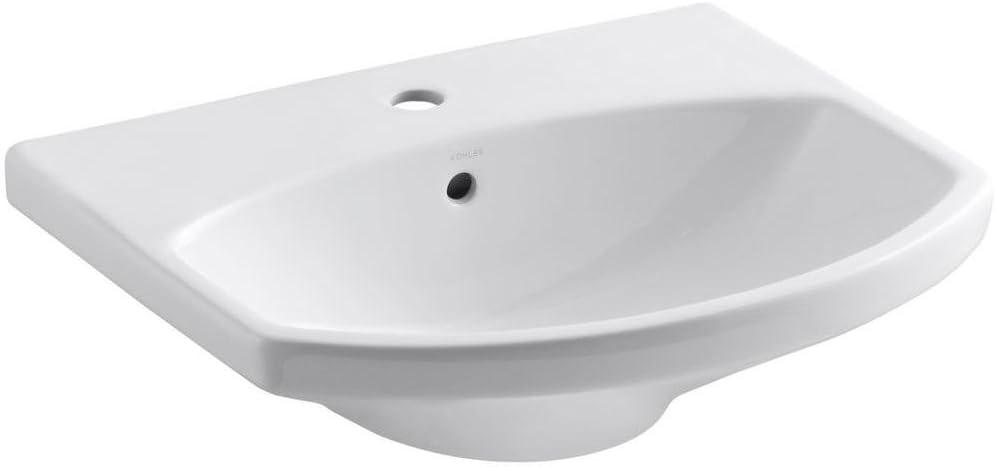 KOHLER K-2363-1-0 Cimarron Phoenix Mall Bathroom Sink Basin Trust White