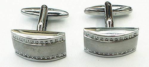 generic_ Quadratische Diamant-Manschettenknöpfe Herren- und Damenhemd-Manschettenknöpfe mit festlichen westlichen Accessoires für Hochzeitsfeiern