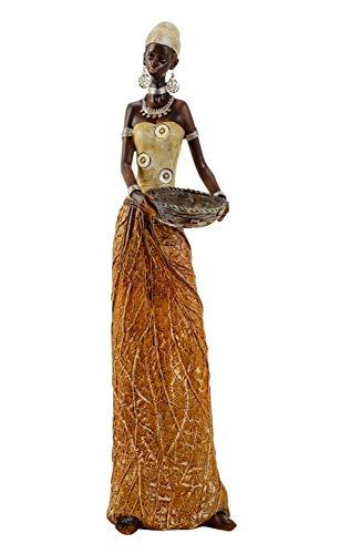 Geschenkestadl Große afrikanische Massai Frau Figur Afrika 40 cm