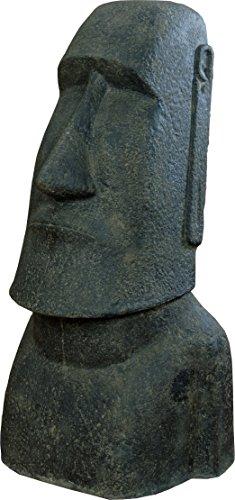 korb.outlet Moai Kopf Steinguss/Osterinseln Statue Figur für Haus und Garten/Gartenskulpturen Stein Guss/Figuren 100 cm