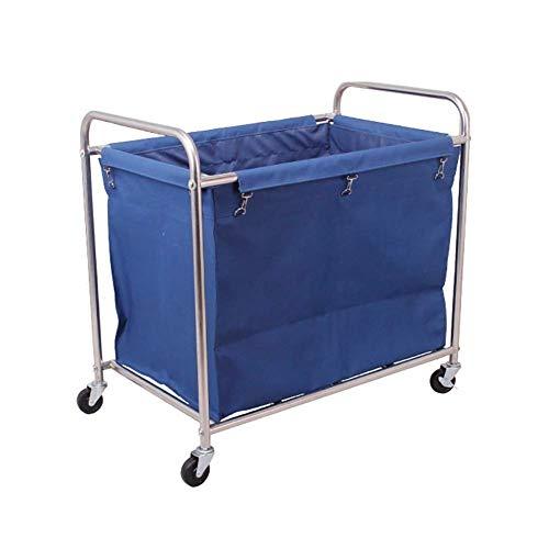 Decoración de muebles para el hogar Clasificador / organizador de lavandería de alta resistencia Carro con ruedas para uso comercial en hoteles Marco de acero Bolsas de lona Oxford extraíbles y rue