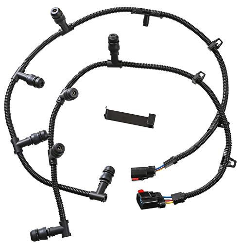Powerstroke 6.0l Glow Plug Harness Kit Includes Right Left Harness Removal Tool Fits 2004-2010 Ford F-250 F-350 F-450 E-350 E-450 Super Duty and Excursion with 6.0L V8 Powerstroke Diesel Engine