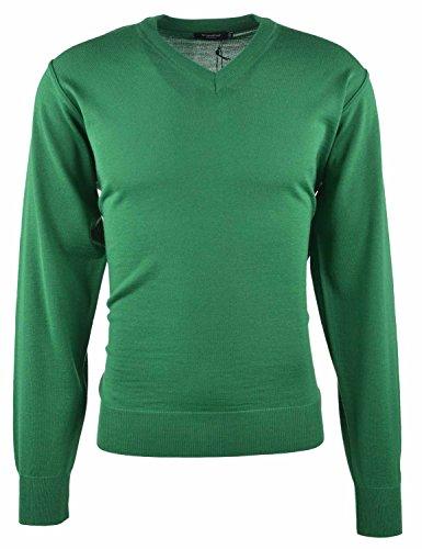 Breidhof Pullover V-Ausschnitt grün, Größe:60