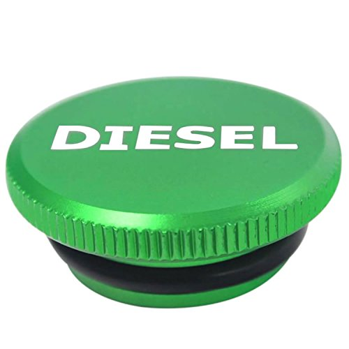 Diesel Billet Aluminum Fuel Cap Magnetic Green for 2013-2019 Dodge Ram Cummins Larger Easier to Grip