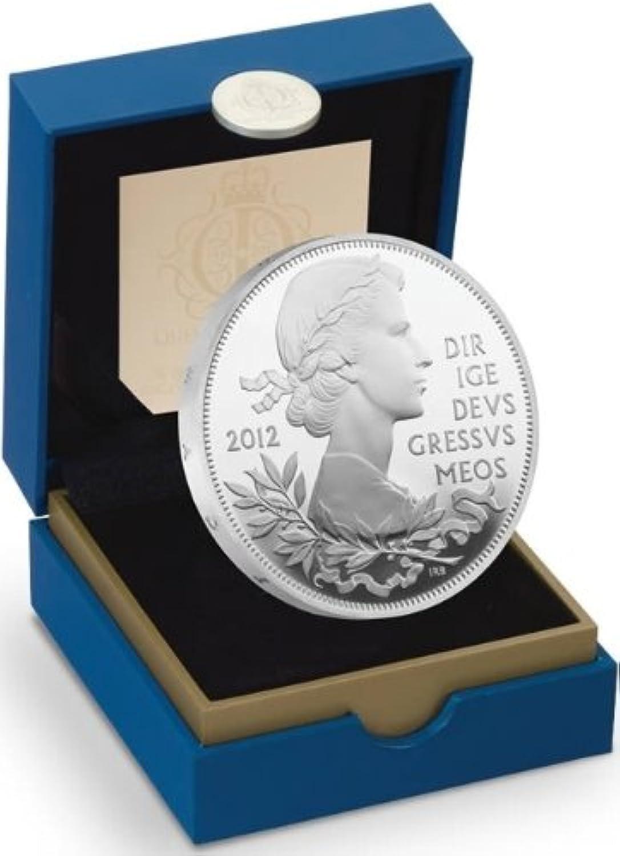 marcas en línea venta barata 2012 de punto Queen's celebración de de de Jubileo de diamante UK £5 plateado a prueba de monedas Piedfort 56,56 G  Ahorre 60% de descuento y envío rápido a todo el mundo.