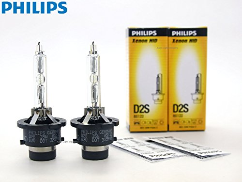 PHILIPS D2S 4300K OEM Replacement HID Xenon Bulbs 85122 35W DOT Germany - Pack of 2 by ALI