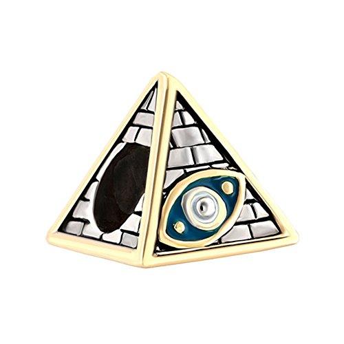 MYD Jewellery Freimaurerisches Auge auf ägyptischen Pyramiden, Glücksbringer, Charm-Armband, 2 Stück