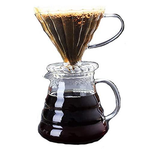 Przenośny Filtr Do Parzenia Kawy Wlać Ekspres Do Kawy Ekspres Do Kawy Z Filtrem Stałym Kubek Ze Szkła Borokrzemianowego Dzbanek Ręczny Kroplownik Do Kawy, 350 Ml