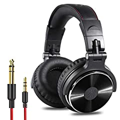 SUPERIOR SOUND: Enjoy clear sound and supreme comfort with the OneOdio Studio monitor headphones. Large, 50 millimeter speaker unit drivers combined with neodymium magnets; powerful bass, clear vocal, and crisp high tones form perfect hi-fi sound. BU...