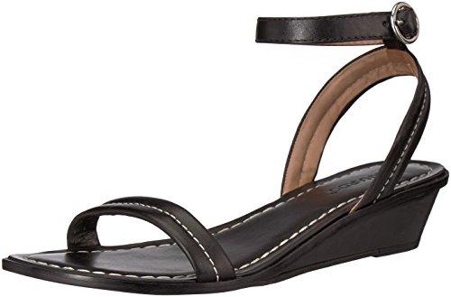 Bernardo Women's Catherine Wedge Sandal, Black Antique Calf, 5.5M M US