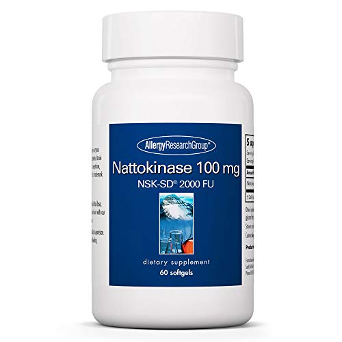 Allergy Research Group - Nattokinase NSK-SD 100mg - Cardiovascular/Circulatory Health - 60 Softgels