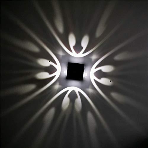 Lámpara de pared moderna 3W aluminio sin oxidación luces de sconce colorido novedad KTV Bar Restaurante Sala de estar lámpara de iluminación ColdWhite