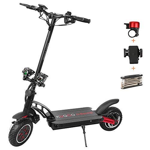 Monopattino Elettrico Pieghevole,E-Scooter Elettrico per Adulti,KUGOO G-Booster 10 Pollici Pneumatici a Prova d'esplosione, Autonomia 85 km, Velocità Massima 55 km/h
