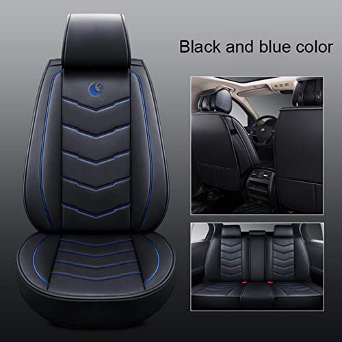 XIARI Universal Car Seat Covers Set Cushion Accessories For Toyota Camry Corolla Prius Venza Chr Avalon Rav4 4Runner Yaris Hilux Tacoma-Black Blue
