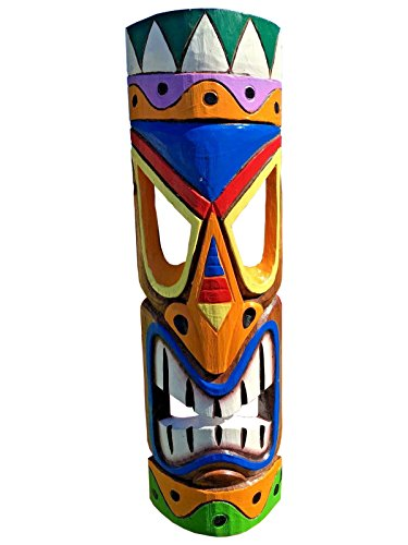 "All Seas Imports 20"" Multi-Color Vibrant Hawaiian Beach Luau Style Wall Decor Tiki Mask!"