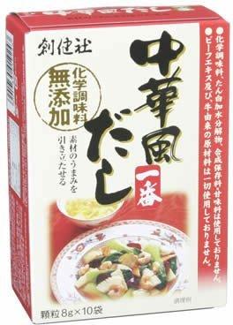 創健社 中華風だし一番(化学調味料無添加) 8g×10袋 [食品&飲料] ×8セット