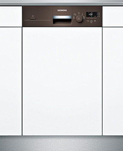 Siemens iQ100 SR515M03CE lavavajilla Semi-incorporado 9 cubiertos A+ - Lavavajillas (Semi-incorporado, Estrecho (45 cm), Marrón, Botones, Giratorio, 1,75 m, 1,65 m)