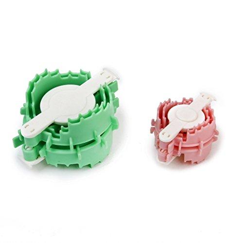 Forme de c/œur hellodd Lot de 2/Pompons Maker Fluff boule Weaver Loom Craft 4/cm 6/cm Couleur al/éatoire