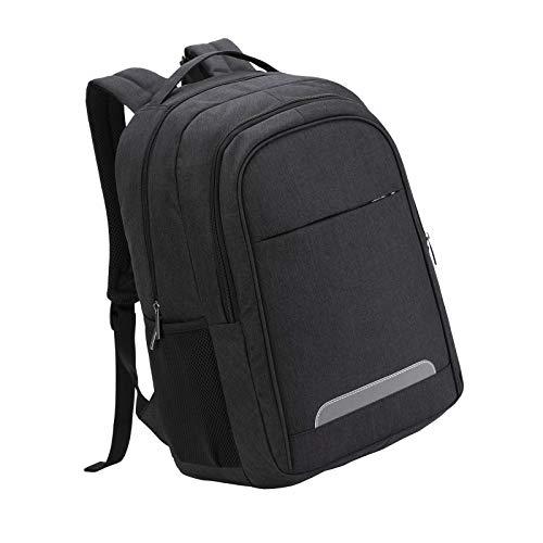 Black Rucksack Laptop Backpack for Men and Women Boys Girls Back Pack Bag for Cycling Hiking Camping