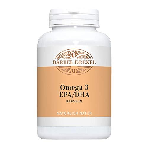 BÄRBEL DREXEL® Omega 3 EPA/DHA 2000 mg Kapseln Hochdosiert (120 Stk) 100{20f361ff33c2f753d1eed37dbe95cf744890f52defa06a00dcd64d244ae62046} Natürliche Herstellung Deutschland 800mg EPA + 600mg DHA pro Tagesdosis, Fischöl Kapseln, Vitamin E, Essentielle Fettsäuren