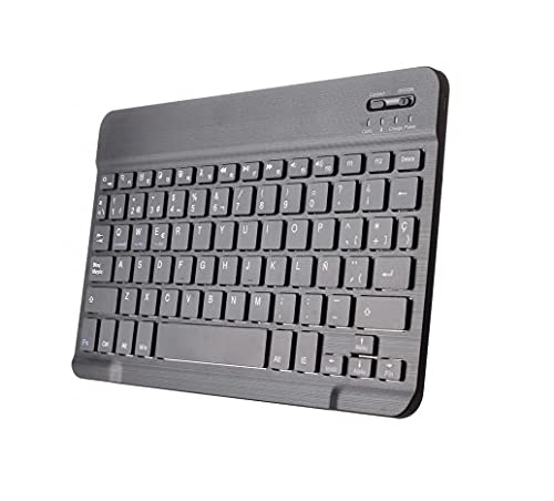 Theoutlettablet® Teclado Bluetooth (inalambrico) Compatible con Tablet Huawei MediaPad T3 10 (9.6') / T5 (10.1') / M5 Lite (10.1') / M6 (10.8')