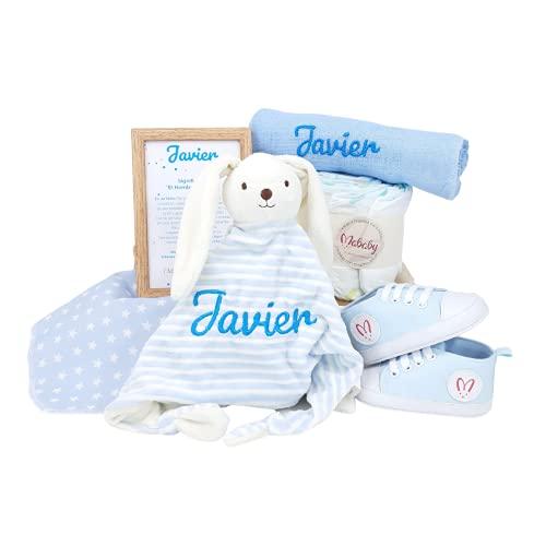 Sneakers de Mababy - Canastilla Personalizada para Recien Nacido - Regalo para Nacimiento - Cesta de Bebé Personalizada - Regalos Bebé (azul, 0-3 meses)