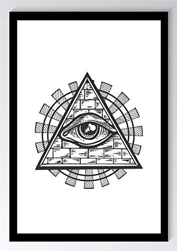 Auge der Vorsehung Illuminati Kunstdruck Poster -ungerahmt- Bild DIN A4 A3 K0358 Größe A4