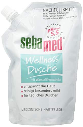 sebamed Wellness Dusche Nachfüllbeutel, milde Reinigung für empfindliche Haut, 400 ml