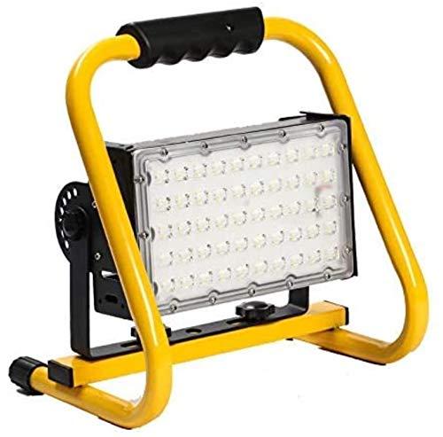 Reflectores LED recargables de 50 vatios Luz de inundación LED impermeable para exteriores Luces de trabajo LED 180deg;Ángulo de iluminación ajustable 5500LM luces exteriores para camping garaje rep