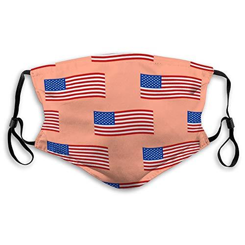 Walnut Cake Atemschutz Luftstaub Gesicht Mundschild Unabhängigkeitstag USA Flaggen nahtloses Muster Einheit Mund Abdeckungen