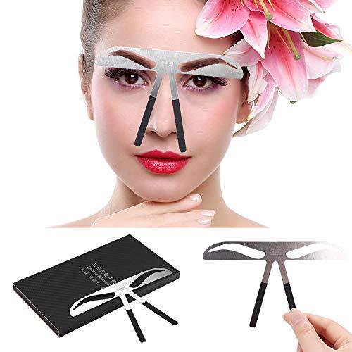 Regla de cejas Tatuaje permanente Medida de cejas Equilibrio Extensión Diseño de posicionamiento de tres puntos Herramienta de maquillaje de acero inoxidable (01#)