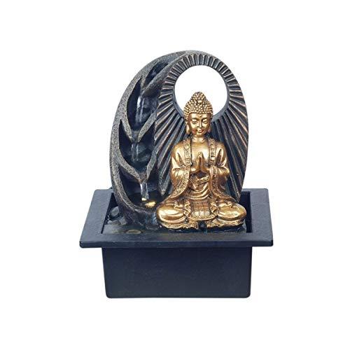 SIGRIS Decor and Go Brunnen Buddha Figur Deko Brunnen Orientalisch DG17958