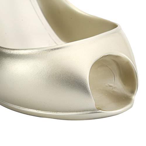Surebuy Zapatos de tacón Alto Estante de Vino Soporte de Almacenamiento de Vino Saludable Soporte de exhibición de Vino para Salas de Estar, armarios de Vino(Golden)