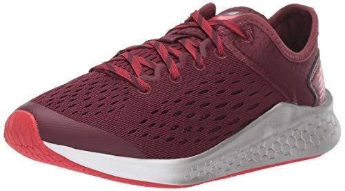 New Balance Kid's Fresh Foam Fast V1 Lace-Up Running Shoe, Nb Burgundy/Velocity Red, 2.5 W US Little Kid