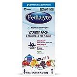 Pedialyte Electrolyte Powder, Electrolyte Drink, Variety Pack, Powder Sticks, 0.3 Oz, 8 Count
