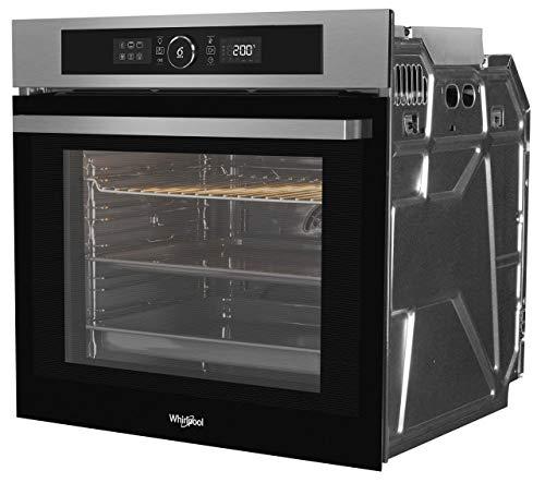 Whirlpool - Horno pirolítico integrable AKZ9 635 IX inox, 16 funciones,tecnología 6th sense, ready2cook y cook 3, guías telescópicas opcionales