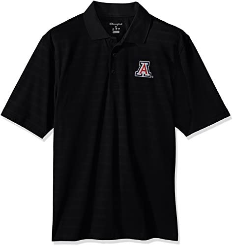 Champion NCAA Mens Textured Solid Synthetic Polo Shirt