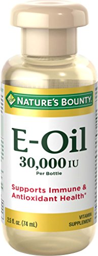 Vitamin E Oil by Nature's Bounty, Supports Immune Health & Antioxidant Health, 30,000IU Vitamin E, Topical or Oral oil, 2.5 Oz
