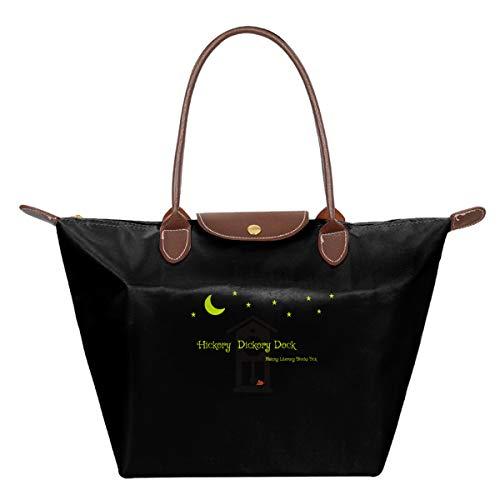 Joy Wholesale Hickory Dickory Dock Handbag Women's Nylon Tote Bag Elegant Shoulder Bag Exquisite Cross Body Bag Foldable Handbag