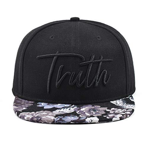 Truth Blue Floral Flat Bill Snapback Hat