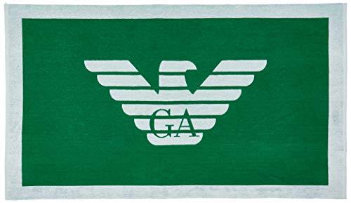 Emporio Armani swimwear Towel Beachwear Pop Contrast Vestaglia, Verde (Smeraldo 01185), Medium (Taglia Unica: TU) Uomo