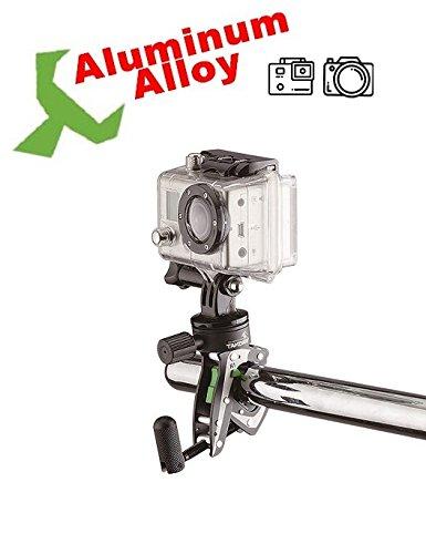 Takeway R1 Ranger - Pince Support de Fixation, Accessoires Pour Caméra Sport, Mobile, GPS - Montage Universelle Sur Tubes de Guidons Vélo, Moto, Scooter - Corps Compacte en Aluminium Solide et Léger