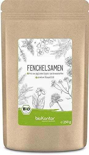 Fenchelsamen BIO süß ganz 250g - 100% natürlicher Fencheltee - Gewürz - beste Bio-Qualität von bioKontor