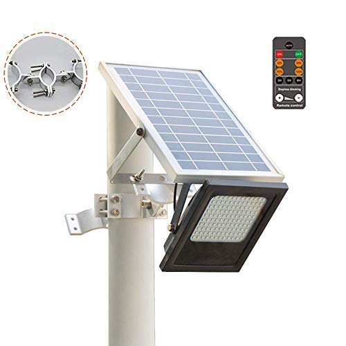 Sunwebcam 120 LED Solar Powered FloodLights Outdoor Security Light 1000 Lumen, IP65 Waterproof with Auto-on/Off and Sensor Detection for Lawn Garden Landscape Shed Lawn (with Remote Control)